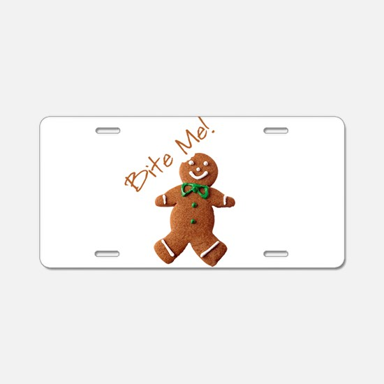 Cute Gingerbread Aluminum License Plate