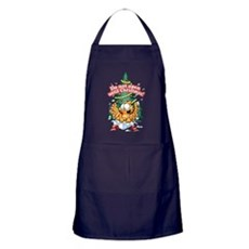 Do Not Open Until Christmas Apron (dark)
