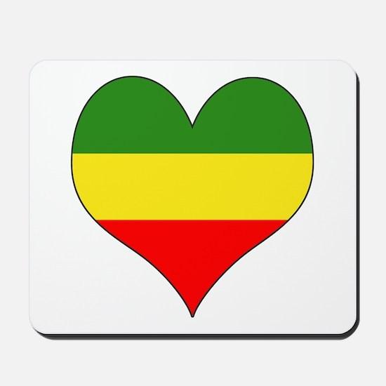 Ethiopia Heart Mousepad