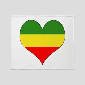 Ethiopia Heart Throw Blanket