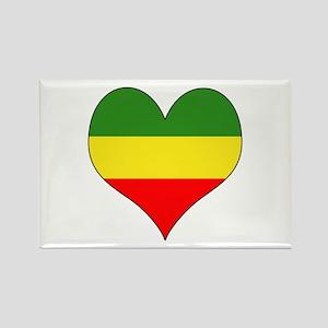 Ethiopia Heart Rectangle Magnet