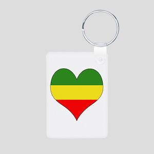 Ethiopia Heart Aluminum Photo Keychain