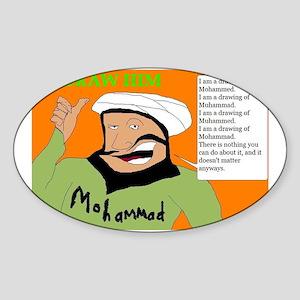 Draw Him Sticker (Oval)