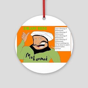 Draw Him Ornament (Round)