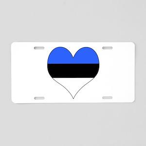 Estonia Heart Aluminum License Plate