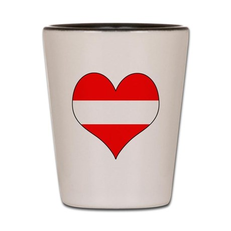 Austria Heart Shot Glass