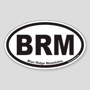 Blue Ridge Mountains BRM Euro Oval Sticker