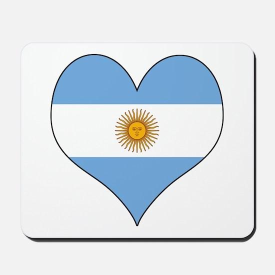 Argentina Heart Mousepad