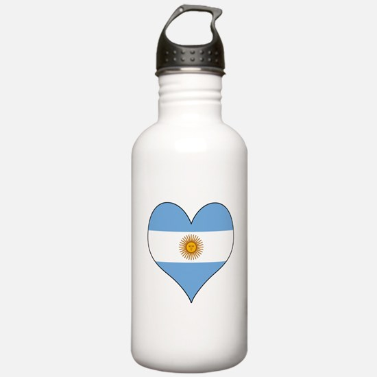 Argentina Heart Water Bottle