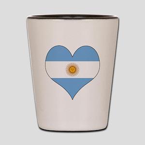 Argentina Heart Shot Glass