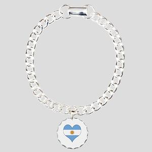 Argentina Heart Charm Bracelet, One Charm