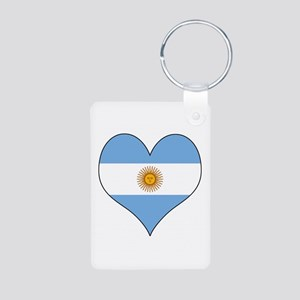 Argentina Heart Aluminum Photo Keychain