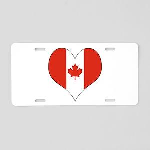 Canada Heart Aluminum License Plate