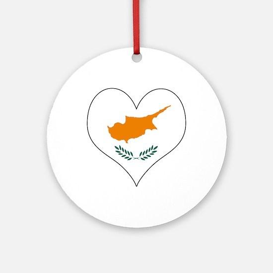 Cyprus Heart Ornament (Round)