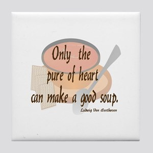 Good (tomato) Soup Tile Coaster