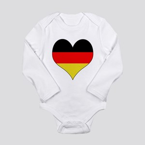 Germany Heart Long Sleeve Infant Bodysuit