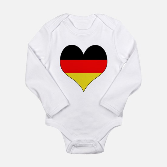 Germany Heart Long Sleeve Infant Bodysuit