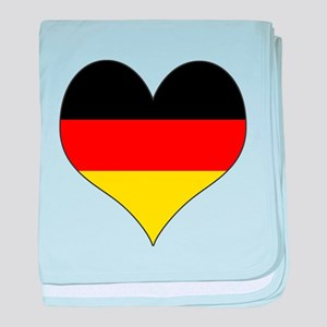 Germany Heart baby blanket