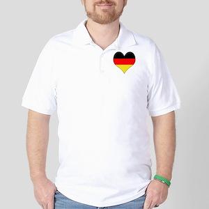 Germany Heart Golf Shirt