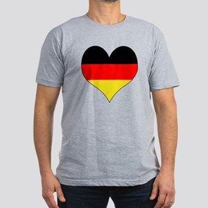 Germany Heart Men's Fitted T-Shirt (dark)