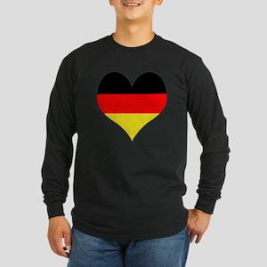 Germany Heart Long Sleeve Dark T-Shirt