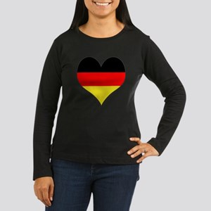 Germany Heart Women's Long Sleeve Dark T-Shirt