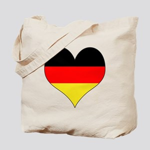 Germany Heart Tote Bag