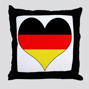 Germany Heart Throw Pillow