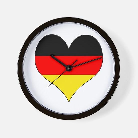 Germany Heart Wall Clock