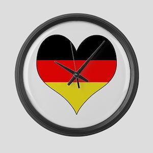 Germany Heart Large Wall Clock