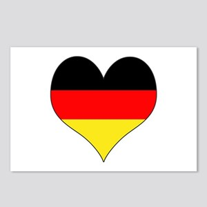 Germany Heart Postcards (Package of 8)