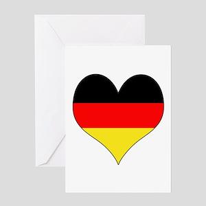 Germany Heart Greeting Card