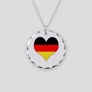 Germany Heart Necklace Circle Charm