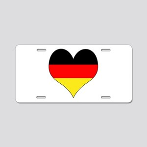 Germany Heart Aluminum License Plate