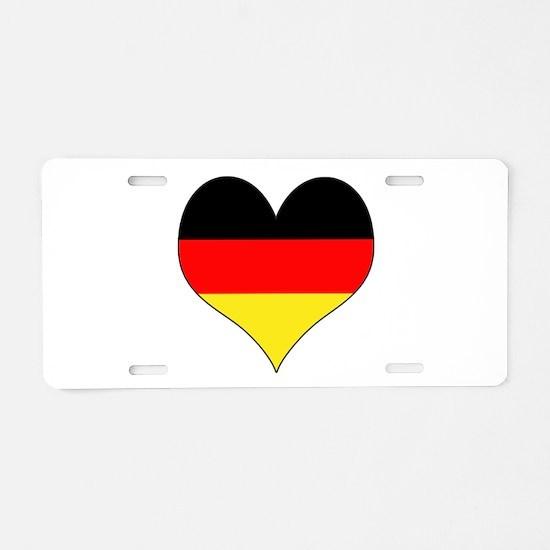 Germany Heart Aluminum License Plate