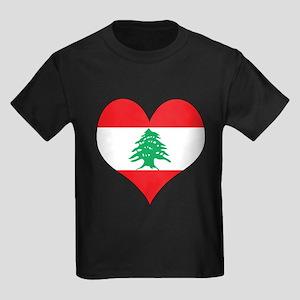 Lebanon Heart Kids Dark T-Shirt
