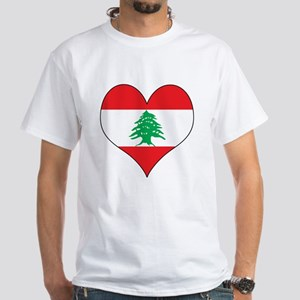 Lebanon Heart White T-Shirt