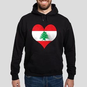 Lebanon Heart Hoodie (dark)