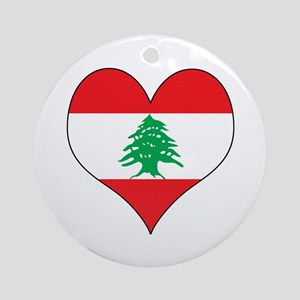 Lebanon Heart Ornament (Round)