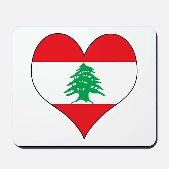 Lebanon Heart Mousepad