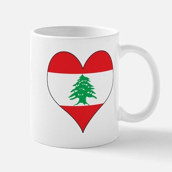 Lebanon Heart Mug