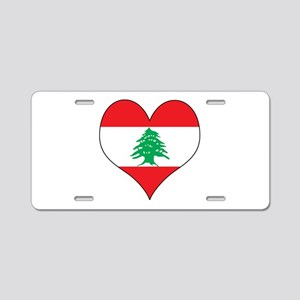 Lebanon Heart Aluminum License Plate