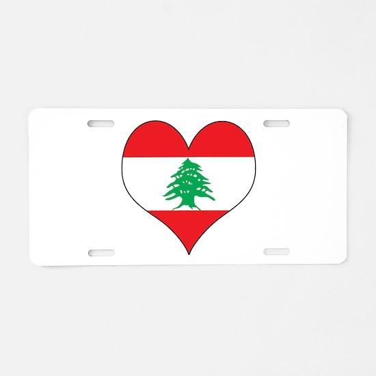 Lebanon Heart Aluminum License Plate