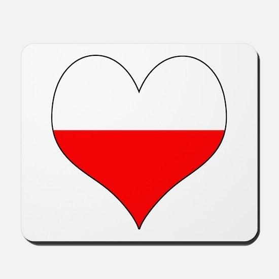 Poland Heart Mousepad
