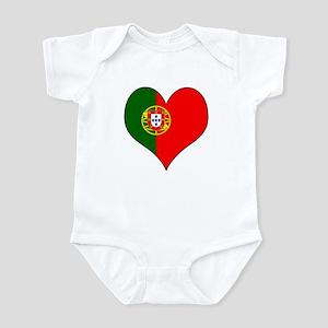 Portugal Heart Infant Bodysuit