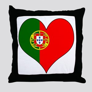 Portugal Heart Throw Pillow