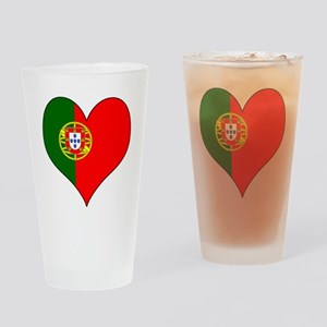 Portugal Heart Drinking Glass