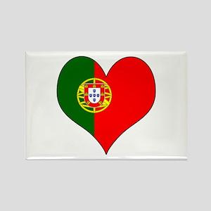 Portugal Heart Rectangle Magnet