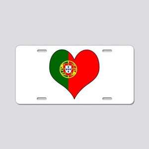 Portugal Heart Aluminum License Plate