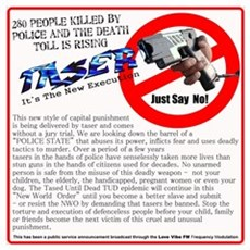 Say no tasers it's the new ex Framed Print